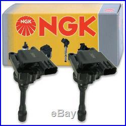 2 pcs NGK Ignition Coil for 2002-2007 Mitsubishi Lancer 2.0L L4 Spark Plug kj