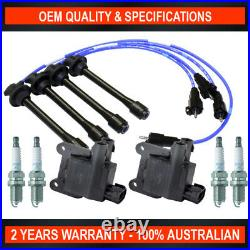 2x Swan Ignition Coil with NGK Spark Plugs & Lead Kit for Toyota Hilux RZN 2.7L