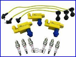 3 Pack Ignition Coils Kit for JDM Supra Soarer Aristo Lexus GS300 IS300 UF228 3L