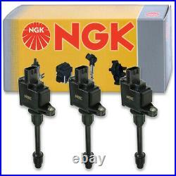 3 pcs NGK Ignition Coil for 2000-2001 Nissan Maxima 3.0L V6 Spark Plug pe