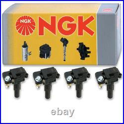 4 pcs NGK Ignition Coil for 2002-2003 Subaru Impreza 2.0L H4 Spark Plug ag