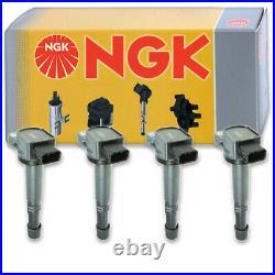 4 pcs NGK Ignition Coil for 2002-2009 Honda CR-V 2.4L L4 Spark Plug Tune la
