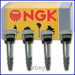 4 pcs NGK Ignition Coil for 2004-2006 Mitsubishi Lancer 2.4L L4 Spark Plug op