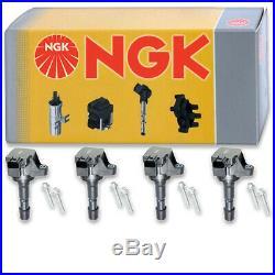 4 pcs NGK Ignition Coil for 2009-2013 Honda Fit 1.5L L4 Spark Plug Tune Up ui