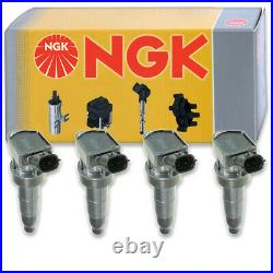 4 pcs NGK Ignition Coil for 2009-2015 Kia Optima 2.4L L4 Spark Plug Tune bb