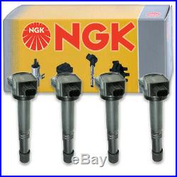 4 pcs NGK Ignition Coil for 2010-2014 Honda CR-V 2.4L L4 Spark Plug Tune ue