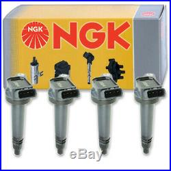 4 pcs NGK Ignition Coil for 2010-2016 Toyota Camry 2.5L L4 Spark Plug Tune hn