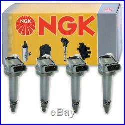 4 pcs NGK Ignition Coil for 2011-2016 Scion tC 2.5L L4 Spark Plug Tune Up tv