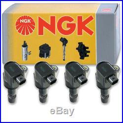 4 pcs NGK Ignition Coil for 2012-2015 Honda Civic 1.8L L4 Spark Plug Tune dw