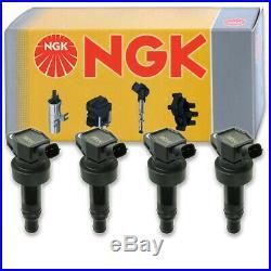 4 pcs NGK Ignition Coil for 2012-2016 Hyundai Veloster 1.6L L4 Spark Plug kr