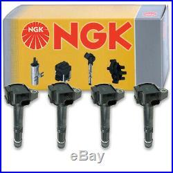 4 pcs NGK Ignition Coil for 2013-2016 Honda Accord 2.4L L4 Spark Plug Tune jt