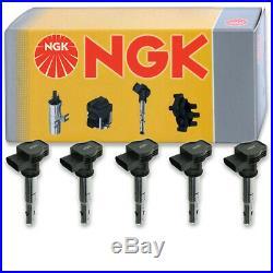 5 pcs NGK Ignition Coil for 2005-2014 Volkswagen Jetta 2.5L L5 Spark Plug kt