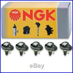 5 pcs NGK Ignition Coil for 2006 Hummer H3 3.5L L5 Spark Plug Tune Up Kit zz