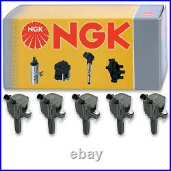 5 pcs NGK Ignition Coil for 2007-2010 Hummer H3 3.7L L5 Spark Plug Tune Up uk