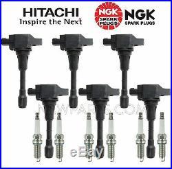 6 Hitachi Direct Ignition Coils & 6 NGK Spark Plugs KIT for Infiniti Nissan V6