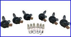 6 Ignition Coil Packs & Spark Plugs for F150 Flex Transit MKS MKT Ecoboost 3.5L