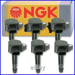 6 pcs NGK Ignition Coil for 1999-2010 Honda Odyssey 3.5L V6 Spark Plug ef