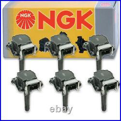 6 pcs NGK Ignition Coil for 2000-2002 Audi A6 Quattro 2.7L V6 Spark Plug ol
