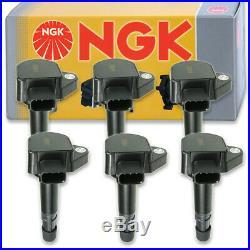 6 pcs NGK Ignition Coil for 2000-2007 Honda Accord 3.0L V6 Spark Plug Tune te