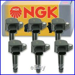 6 pcs NGK Ignition Coil for 2001-2009 Acura MDX 3.5L 3.7L V6 Spark Plug bz