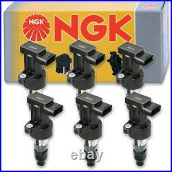 6 pcs NGK Ignition Coil for 2002-2008 Jaguar X-Type 3.0L 2.5L V6 Spark ub