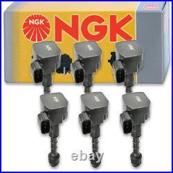 6 pcs NGK Ignition Coil for 2003-2007 Infiniti G35 3.5L V6 Spark Plug Tune ka