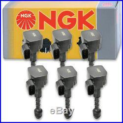 6 pcs NGK Ignition Coil for 2003-2008 Nissan 350Z 3.5L V6 Spark Plug Tune ow