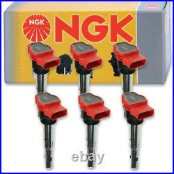6 pcs NGK Ignition Coil for 2005-2014 Audi A6 Quattro 3.0L 3.2L V6 Spark zl
