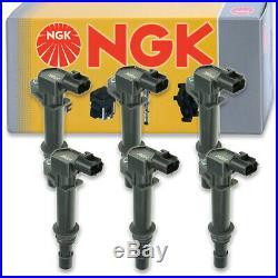 6 pcs NGK Ignition Coil for 2006-2008 Jeep Commander 3.7L V6 Spark Plug th