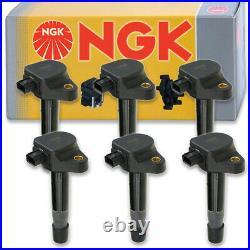 6 pcs NGK Ignition Coil for 2009-2015 Honda Pilot 3.5L V6 Spark Plug Tune sf