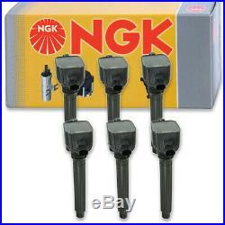 6 pcs NGK Ignition Coil for 2012-2016 Jeep Wrangler 3.6L V6 Spark Plug on