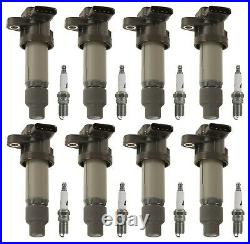 8 GM OE Ignition Coils & 8 ACDelco Spark Plugs Kit For Lucerne DTS SRX STS 4.6L