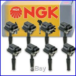 8 pcs NGK Ignition Coil for 1997-2002 Jaguar XK8 4.0L V8 Spark Plug Tune lp