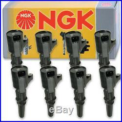 8 pcs NGK Ignition Coil for 1997-2010 Ford F-150 5.4L 4.6L V8 Spark Plug np