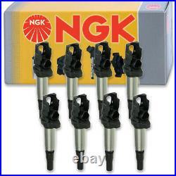 8 pcs NGK Ignition Coil for 2004-2005 BMW 645Ci 4.4L V8 Spark Plug Tune Up oj