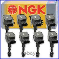 8 pcs NGK Ignition Coil for 2004-2006 Nissan Titan 5.6L V8 Spark Plug Tune sd