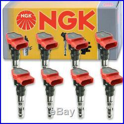 8 pcs NGK Ignition Coil for 2004-2009 Audi S4 4.2L V8 Spark Plug Tune Up cr