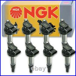 8 pcs NGK Ignition Coil for 2005-2009 Land Rover LR3 4.4L V8 Spark Plug ij