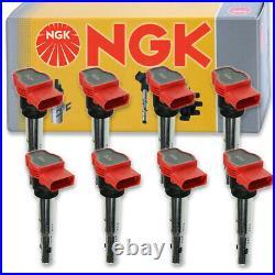 8 pcs NGK Ignition Coil for 2008-2012 Audi S5 4.2L V8 Spark Plug Tune Up mg