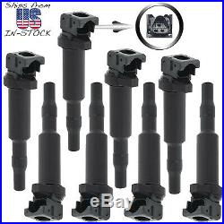 8pc ignition coil kit for BMW 5, 6, 7, X5, X6, M5, M6 4.4L 4.8L V8, uf592 uf570
