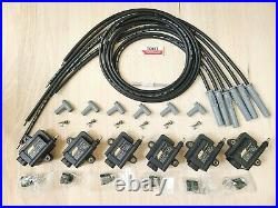 AEM Smart coil IGTB high output & spark plug wire 6 cyl kit NO IGNITER REQUIRED