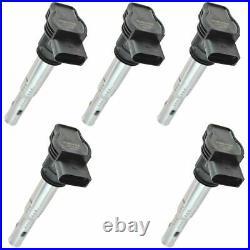 Delphi GN10322 Ignition Coil Kit Set of 5 for Volkswagen VW Audi Brand New