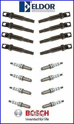 For BMW 8 Ignition Coils & 8 Spark Plugs KIT Newest Version 12138657273/ZGR6STE