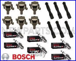 For BMW E39 E46 E52 323i 325i 525i X5 Bosch Ignition Kit Coils Plugs Connectors
