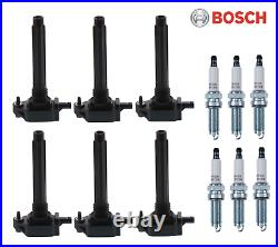 Ignition Tune Up Kit 6 Coils + Spark Plugs for Chrysler Dodge Jeep 3.6L (11-18)