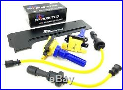 Mitsubishi Lancer Evolution Ignition Coils 8mm Wires EVO 4 5 6 7 8 9 with Cover