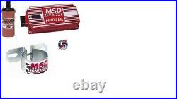 Msd Ignition Kit Digital 6al Box/blaster 2 Coil/universal Coil Bracket New