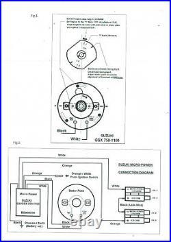 Suzuki GSX550 elektr. Zündung Boyer electronic ignition incl 2 coils KIT292