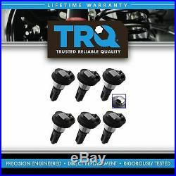 TRQ Ignition Coil Set of 6 Kit for Chevy GMC L6 Truck 2.8L 3.5L 4.2L