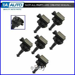TRQ Ignition Coil Set of 6 Kit for Volvo L6 2.8L 2.9L 2.3L 2.4L 2.5L
